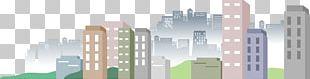 Cartoon City Building PNG