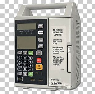 Infusion Pump Intravenous Therapy Baxter International Medical Equipment Medicine PNG