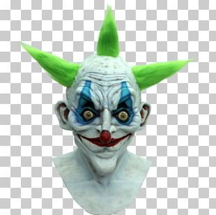 Evil Clown Mask Halloween Costume PNG