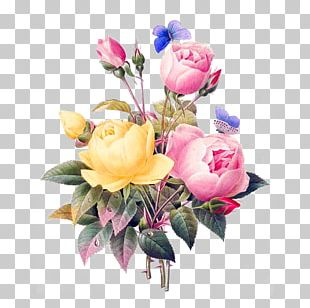 Rose Flower Bouquet Vintage Clothing Retro Style PNG
