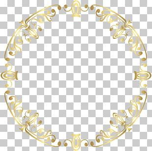 Symmetry Border Frame Gold PNG