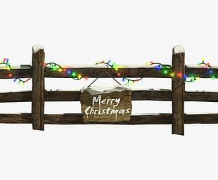 Christmas Lights Fence Material PNG