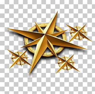 Golden Star Pattern PNG