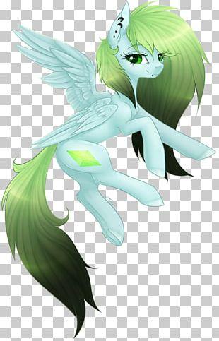Marine Mammal Fairy Horse Green PNG