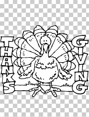 Coloring Book Thanksgiving Turkey Meat Child PNG
