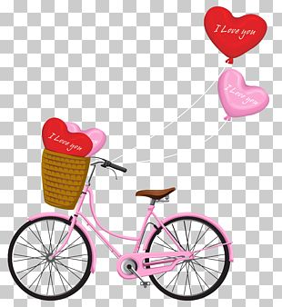 Valentine's Day Bicycle PNG