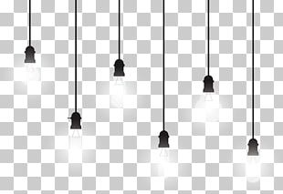 Black And White Line Symmetry Pattern PNG