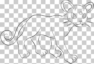 Lion Line Art Persian Meowth Coloring Book PNG
