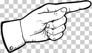 Index Finger Pointing Middle Finger PNG