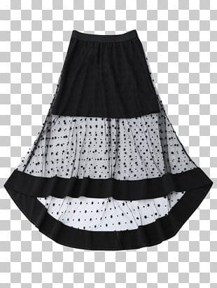 Polka Dot High-low Skirt Waist Hem PNG