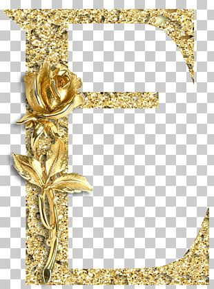 Gold Letter Alphabet Jewellery Pin PNG