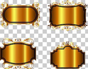 Gold Adobe Illustrator PNG