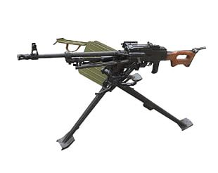 PK Machine Gun Weapon Light Machine Gun Firearm PNG