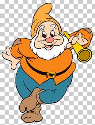 Seven Dwarfs Bashful Dopey Snow White PNG