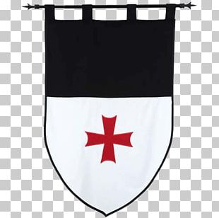 Middle Ages Crusades Banner Knights Templar Flag PNG