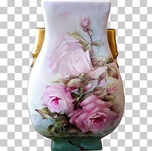 Vase Floral Design Cut Flowers Porcelain PNG