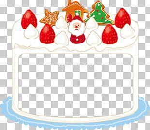 Christmas Cake Cream Marzipan Torte Santa Claus PNG