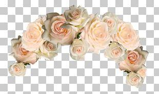 Cut Flowers Garden Roses Wreath PNG