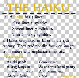 Haiku Poetry Writing Tanka PNG