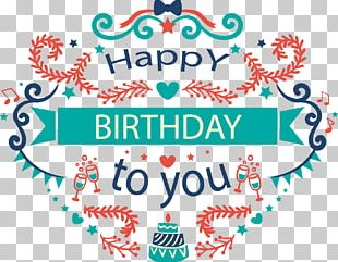 Happy Birthday To You Greeting Card PNG