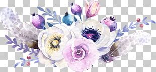 Floral Design Flower Bouquet Cut Flowers Watercolor Painting PNG