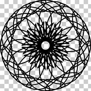 Symmetry Circle Ornament Pattern PNG