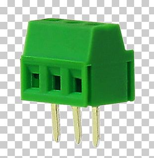 Electronic Component Screw Terminal Electrical Connector Printed Circuit Board PNG