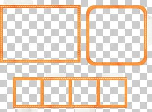 Orange Frames Photography PNG