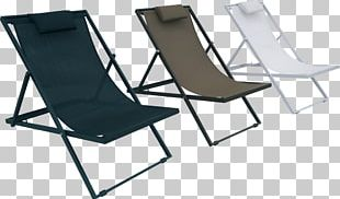 Table Chaise Longue Deckchair Garden Furniture PNG