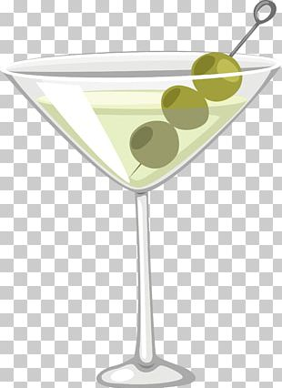 Martini Cocktail Garnish Wine Glass PNG
