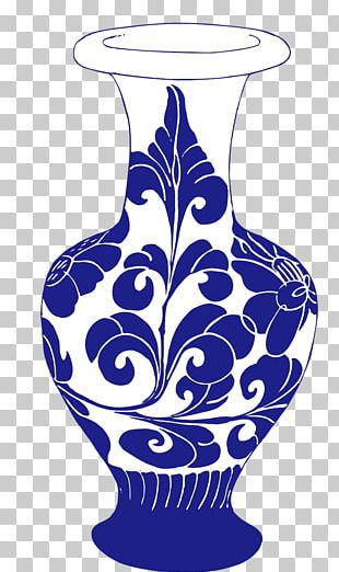 Vase Blue And White Pottery Ceramic PNG