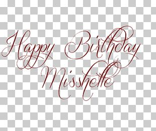 Birthday Typeface Lettering Font PNG
