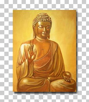 Buddhahood Canvas Print Oil Painting PNG