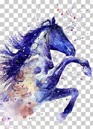 Horse Watercolor Painting Tattoo Drawing PNG