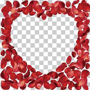 Heart-shaped Rose Petals Rose Sea PNG