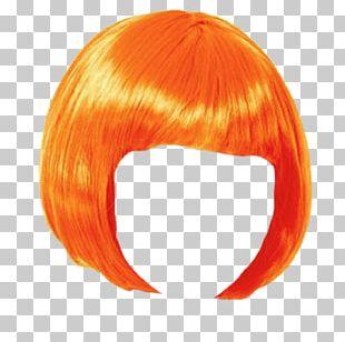 Wig Orange Bob PNG