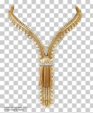 Necklace Gold Zipper Jewellery Van Cleef & Arpels PNG