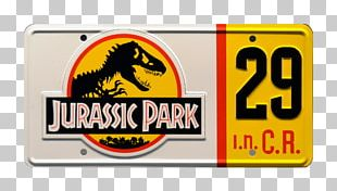 Vehicle License Plates Jurassic Park Logo PNG