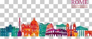 Rome Silhouette Skyline Illustration PNG