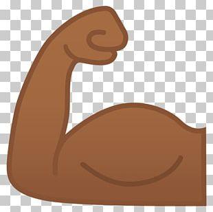Biceps Emoji Human Skin Color Muscle PNG
