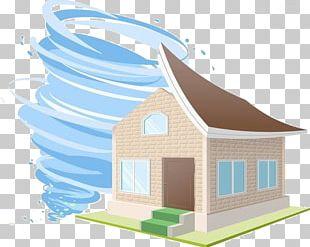 House Cartoon Tropical Cyclone PNG