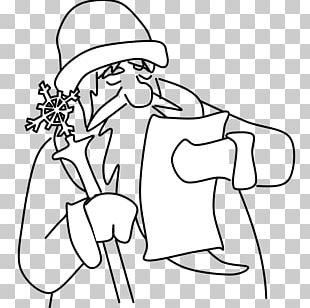 Santa Claus Christmas Wish List Illustration PNG