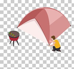 Barbecue Camping Tent Illustration PNG
