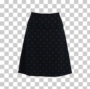 Polka Dot Cobalt Blue Skirt PNG