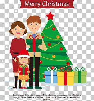 Christmas Tree Family PNG