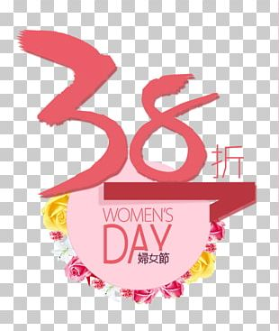 International Womens Day Poster Woman Sales Promotion PNG