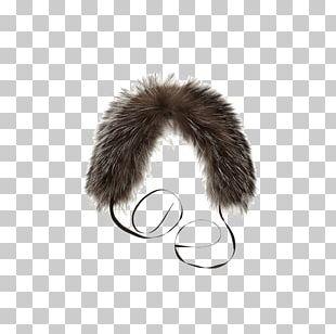 Fur Clothing Silver Fox Collar Coat PNG