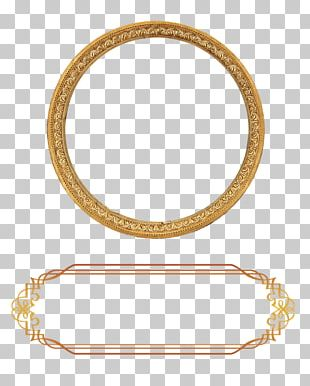 Ornament Gold Frame PNG