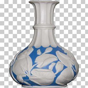 Vase Cobalt Blue Glass Blue And White Pottery Porcelain PNG