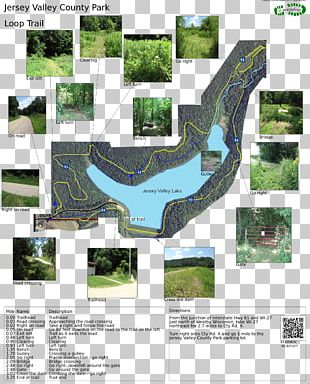 Jersey Valley Lake Delaware Water Gap Trail Map Westby PNG
